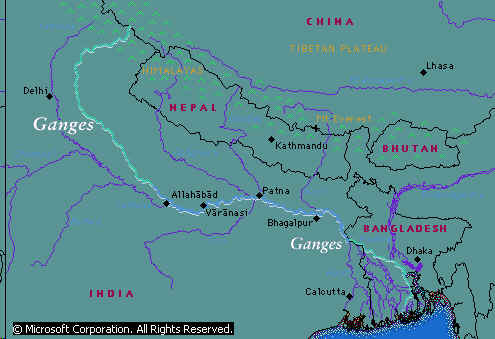 Ganges River - Map